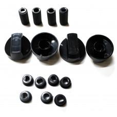 Ручки универсальные для плит, черные WL1034, 43CU010