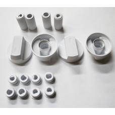 Ручки универсальные для плит, белые WL1032, 43CU007