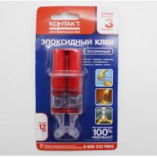 Эпоксидный клей прозрачный 12мл Контакт T301