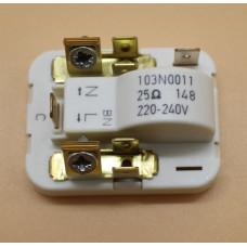 Пусковое реле компрессора SECOP 25Ом 103N0011. RLY002DF, зам. 59790, 103N0011, 103N0018