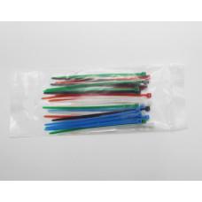 Хомуты 2,5х100 цветные набор 5 цветов (черный, белый, красный, синий, зеленый) (25 штук) TDM код: T547